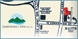Dentist Asheville NC Dr Toth Family Cosmetic Dental Map Directions